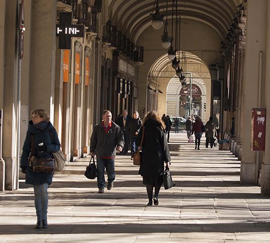 Portici Torino, nei pressi di Palazzo Bellini